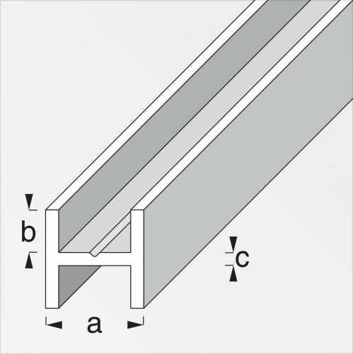 Aluminium h profiel